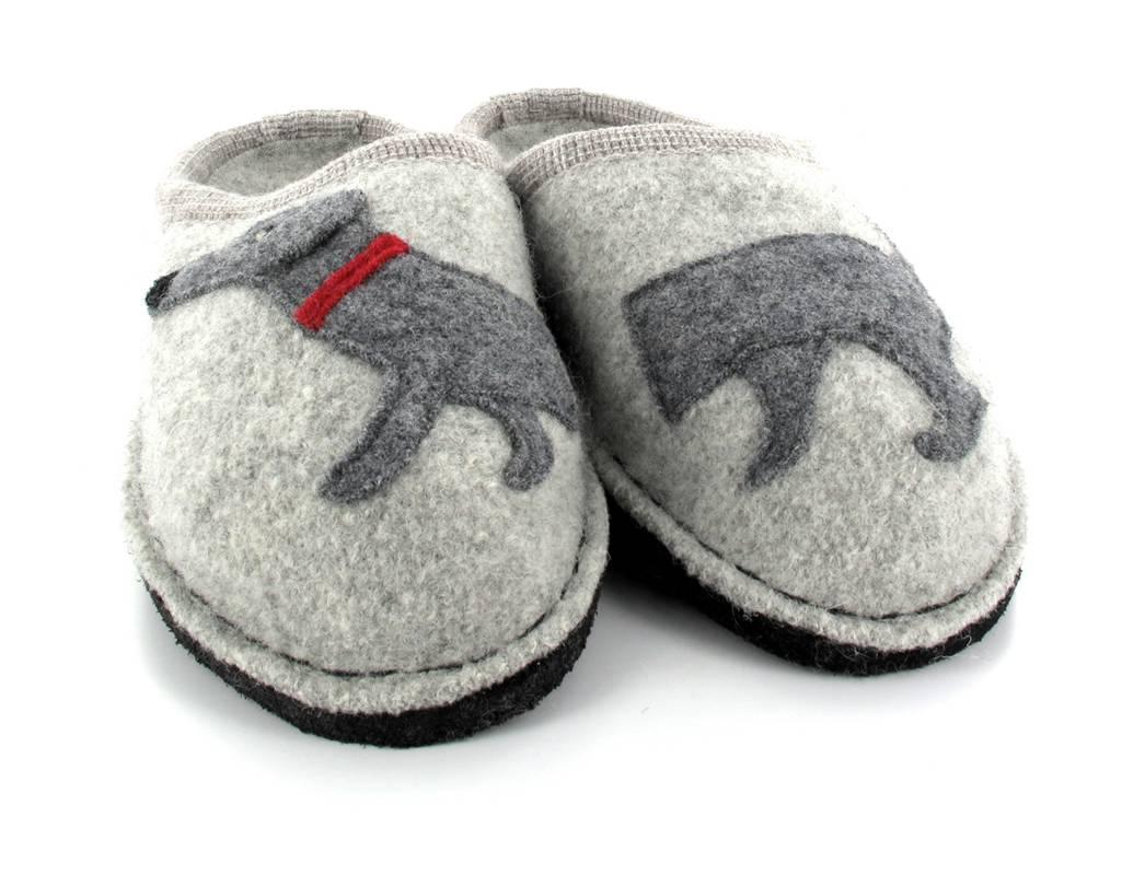 haflinger flair dackel hausschuhe pantoffeln puschen finken hunde motiv ebay. Black Bedroom Furniture Sets. Home Design Ideas