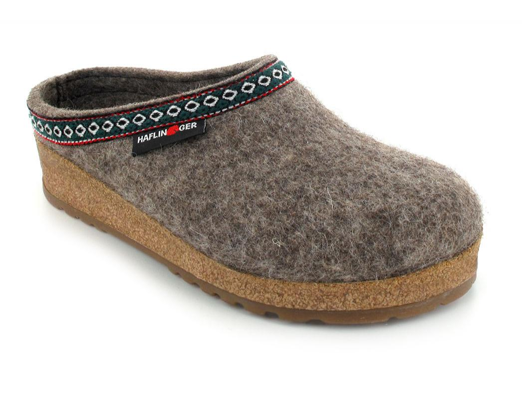 HAFLINGER GZ Clog, Classic Wool Grizzly, the German Franzl ...