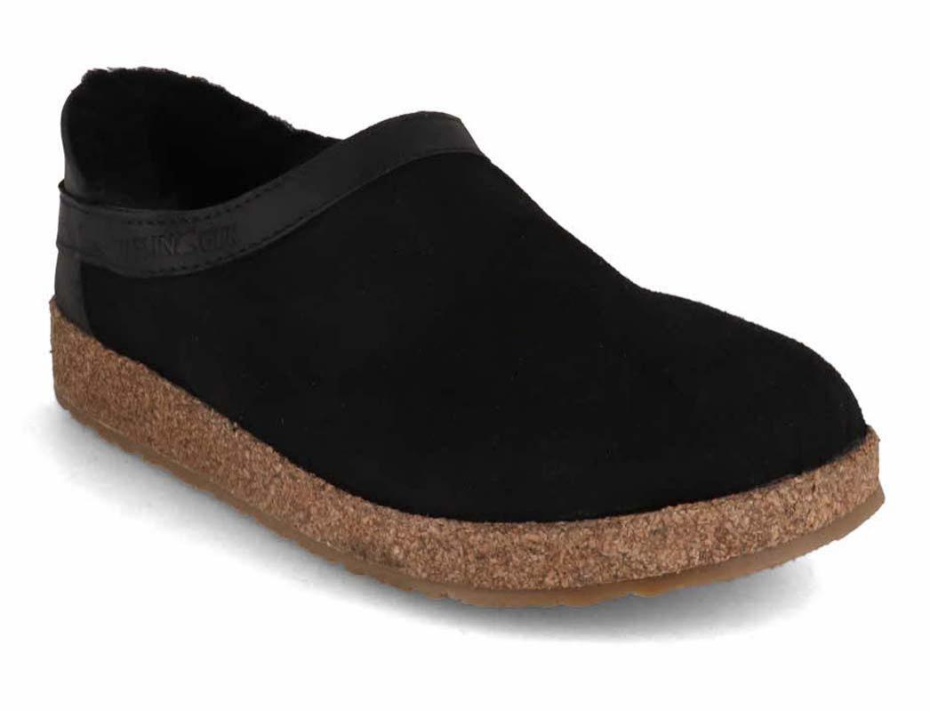 haflinger siberia damen herren hausschuhe clogs lammfell schwarz gr 36 46 ebay. Black Bedroom Furniture Sets. Home Design Ideas