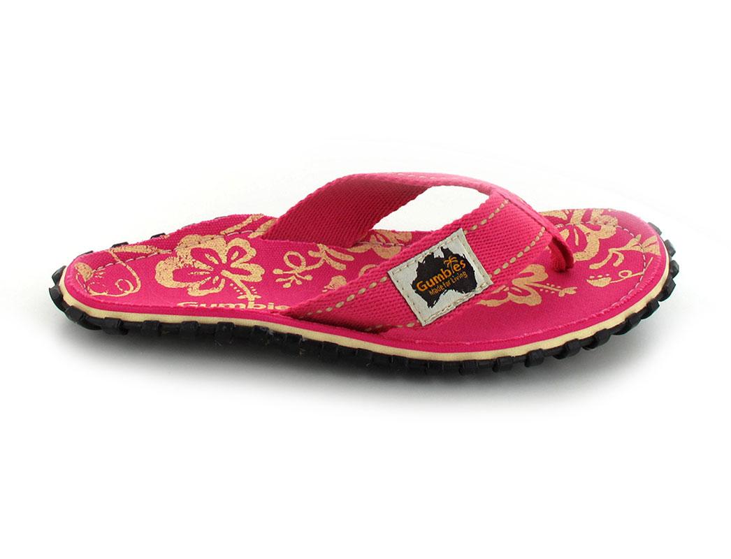 gumbies flip flops damen pink hibiscus flip flops f r damen. Black Bedroom Furniture Sets. Home Design Ideas